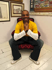 Stephen Wiltshire, an artist with autism, at his gallery in London
