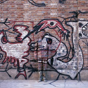 liu bolin - city hiding - graffiti