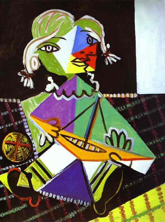 Pablo Picasso Quotes Art As Therapy  - Picasso Girl With Boat
