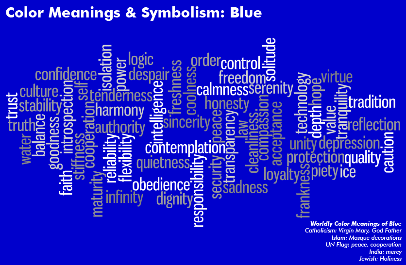 Color Meanings Symbolism Chart Tapthegood