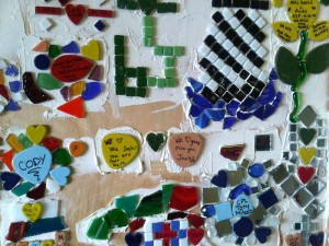 art therapy military mosaic wall