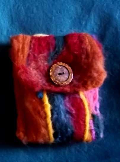 Needle Felting Wool to Create a Felt Wallet