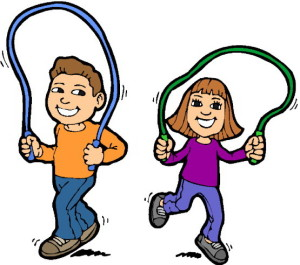 children playing jump rope