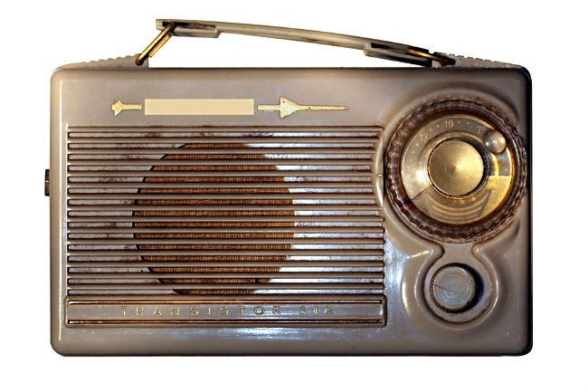 brown vintage radio