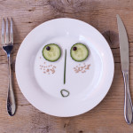 face on plate - art therapy activity